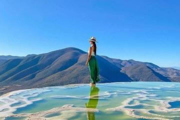 Sững sờ trước vẻ đẹp siêu ảo của thác nước hóa đá Hierve el Agua Mexico