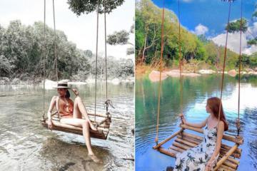 Du lịch hồ Suối Lam Bình Phước ngắm cảnh đẹp hoang sơ, thơ mộng cứ ngỡ chốn tiên cảnh