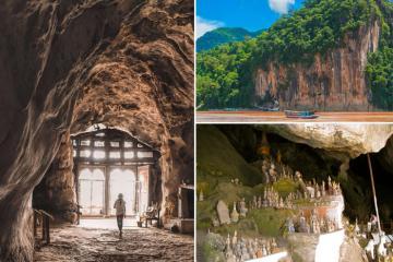 Khám phá hang Pak Ou Lào bí ẩn với hàng ngàn bức tượng Phật