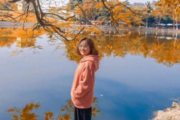 Say đắm vẻ đẹp bình yên tại hồ Bán Nguyệt Hưng Yên