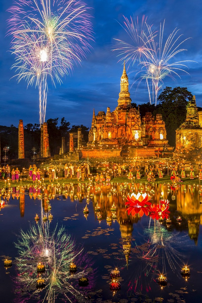 Lễ hộiLoy Krathong - Lễ hội ánh sáng đẹp nhất thế giới