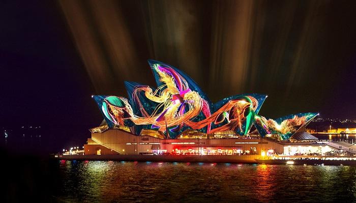 Nhà hát Opera Sydney trong lễ hội ánh sáng - Lễ hội ánh sáng đẹp nhất thế giới