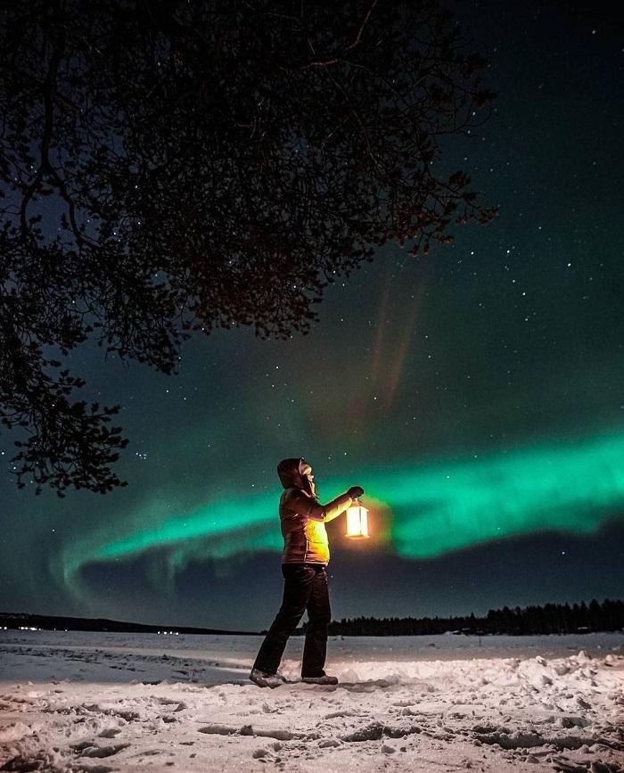 Bắc Cực quang là hiện tượng tự nhiên tuyệt đẹp ở Rovaniemi - Du lịch Rovaniemi