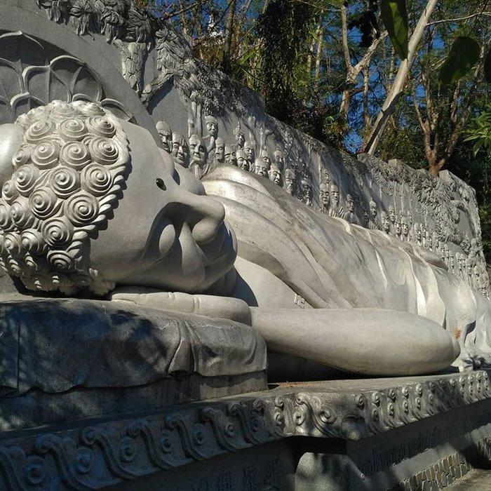 Buddha statue in Long Son pagoda