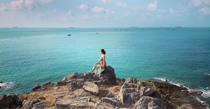Fishing beach - interesting destination at Ba Vung Tau island