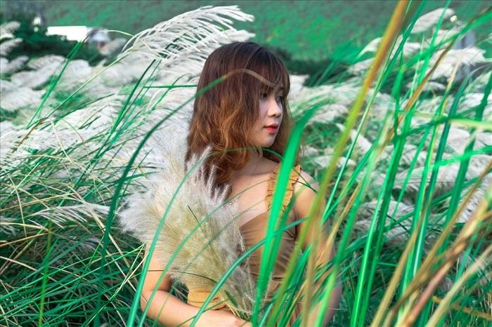 địa điểm chụp ảnh ngoại cảnh ở Sài Gòn- cánh đồng cỏ lau
