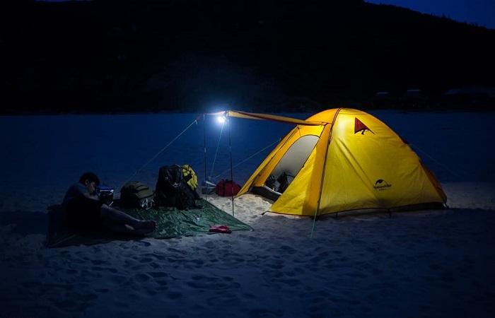 Son Hao beach - camping