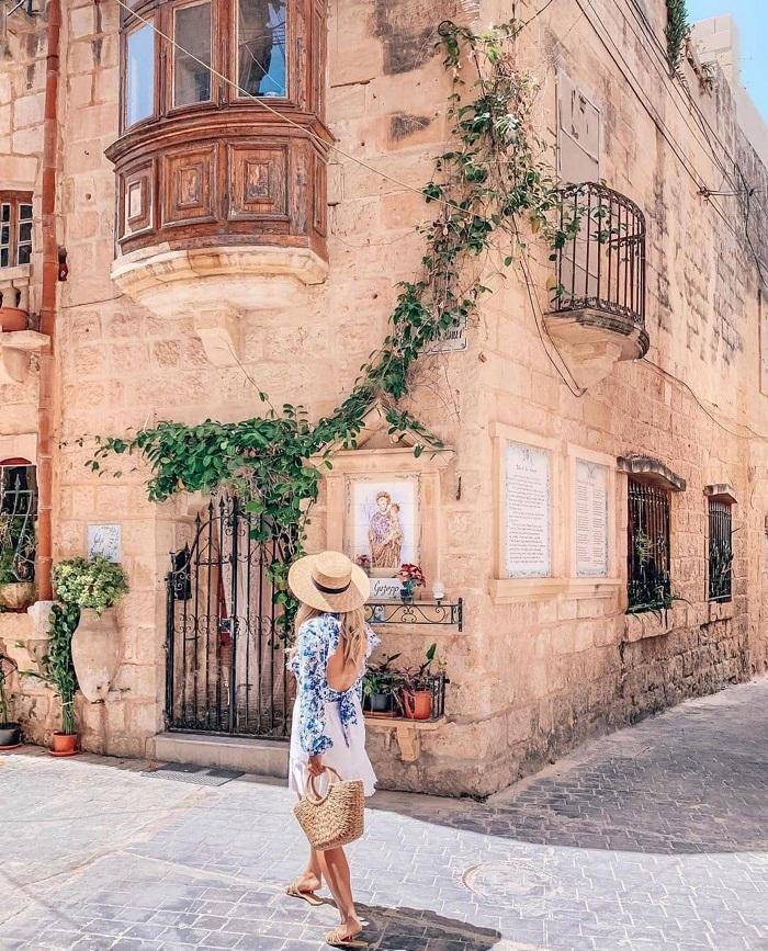 Đường phô ở Rabat - Đảo Gozo - Du lịch Malta