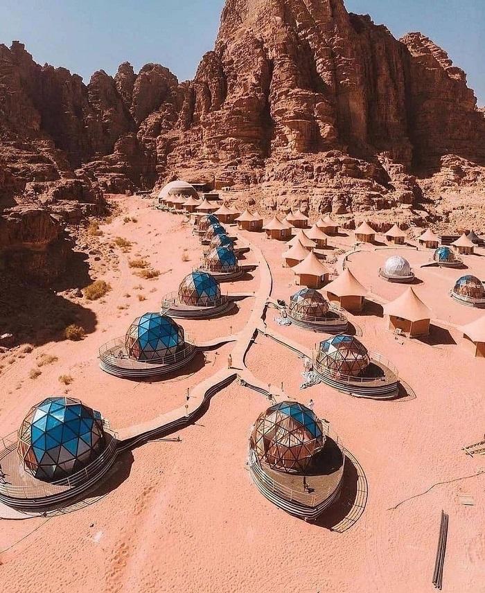 Khu lều trai nghỉ dưỡng trong Petra - Du lịch Petra Jordan