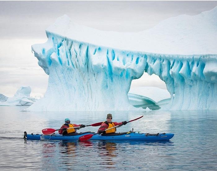 Chèo thuyền kayak - Du thuyền Nam Cực