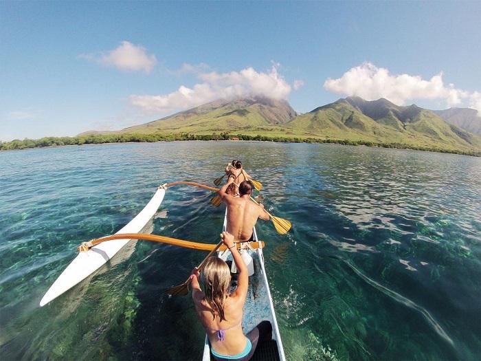 Chèo thuyền trên đảo Maui - Hướng dẫn du lịch đảo Maui