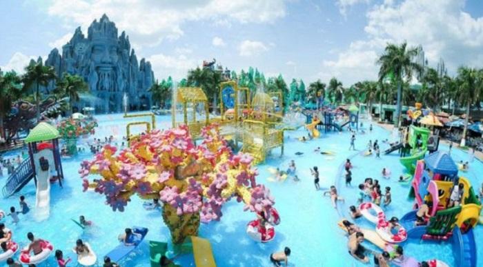 Khu du lịch gần Sài Gòn có hồ bơi - công viên Đầm Sen vui chơi
