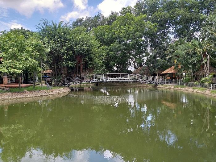 Khu sinh thái Villa H2O Hóc Môn - khung cảnh yên tĩnh