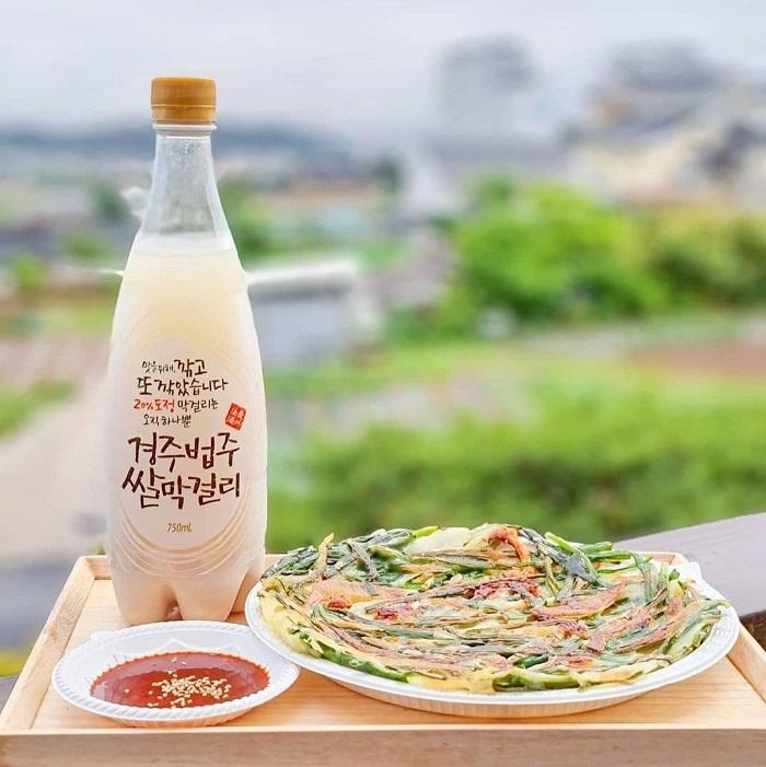 Bánh kếp hành lá và rượu gạo - Kinh nghiệm du lịch Gyeongju