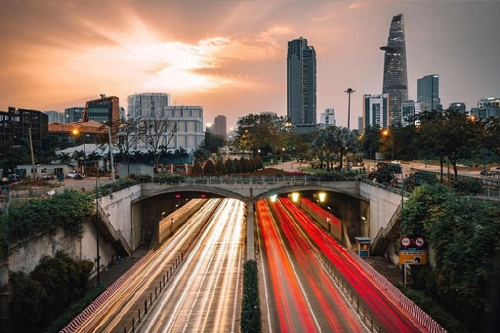 roof of Thu Thiem Tunnel - where is Saigon?