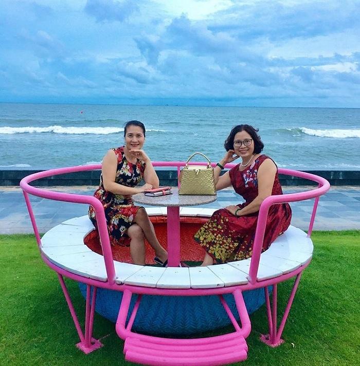 sống ảo - hoạt đọng thú vị tại Bãi biển Đồi Dương