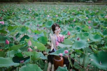 Đầm sen Trường Phước - địa điểm lý tưởng vui chơi và sống ảo ở Quảng Trị
