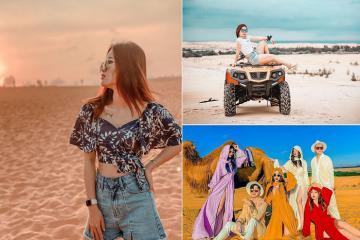 Đừng đến những đồi cát đẹp ở Bình Thuận này, vì bạn sẽ 'say' ngay đấy!