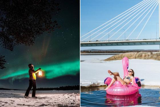 Du lịch đến Rovaniemi ngắm mặt trời lúc nửa đêm và xem Bắc cực quang