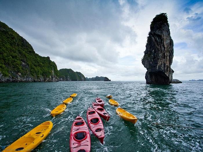 chèo thuyền kayak ở Hạ Long - loại thuyền kayak