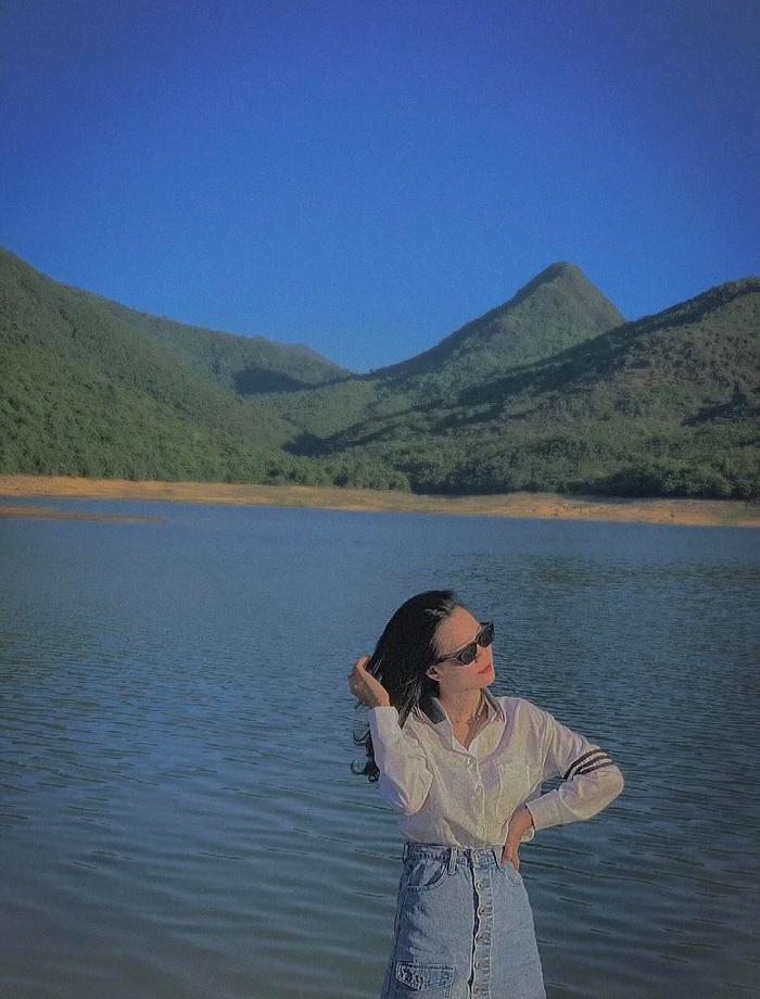 xanh mướt - khung cảnh nổi bật tại Hồ Long Mỹ