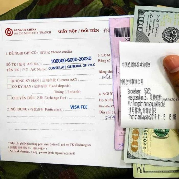 visa du lịch Trung Quốc- chứng minh đặt phòng