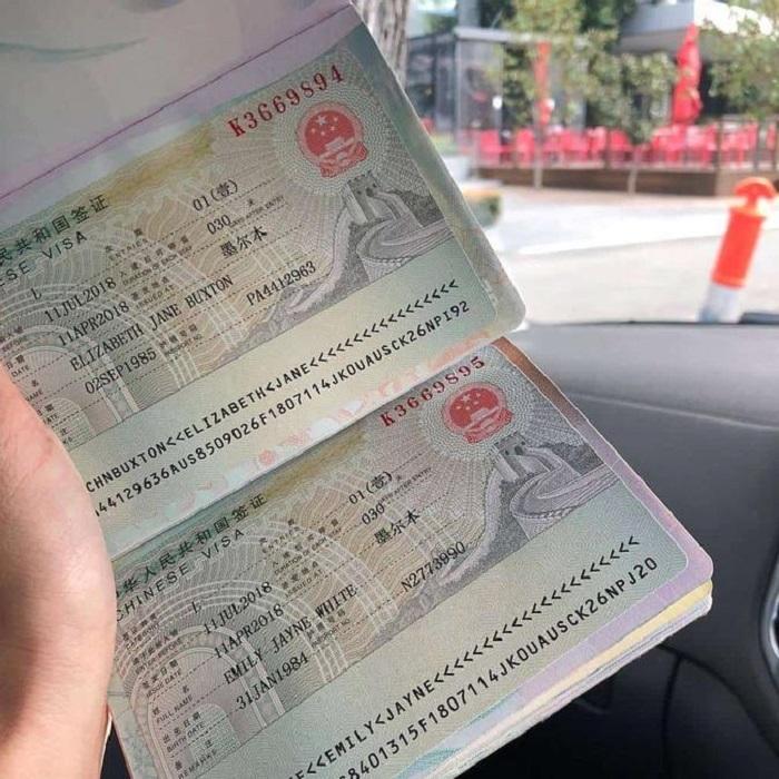 visa du lịch Trung Quốc- chứng minh giấy tờ