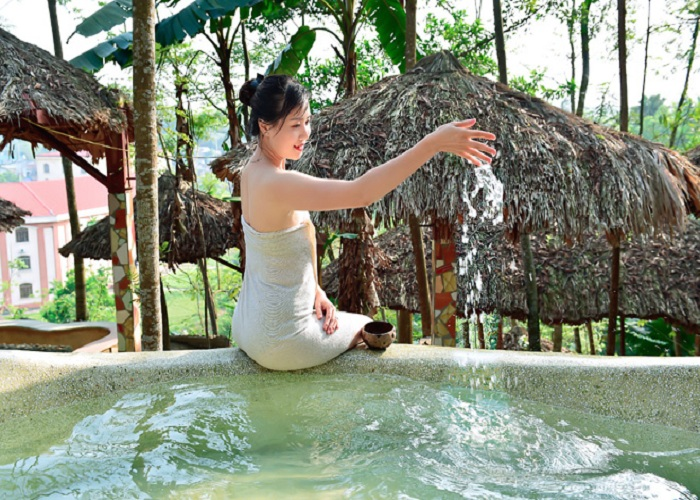 Travel experience mineral springs My Lam Tuyen Quang