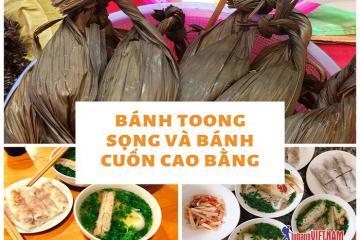Bánh toong sọng và bánh cuốn – đặc sản Cao Bằng