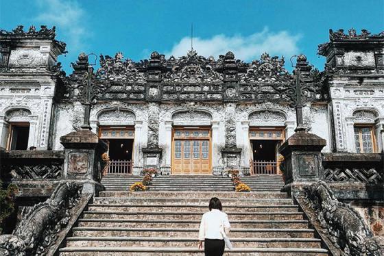 Khám phá kiến trúc tuyệt đẹp của lăng Khải Định Huế