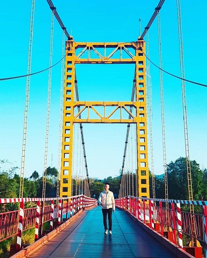 Visiting Kon Tum to visit the Kon Klor suspension bridge, the enchanting check-in point