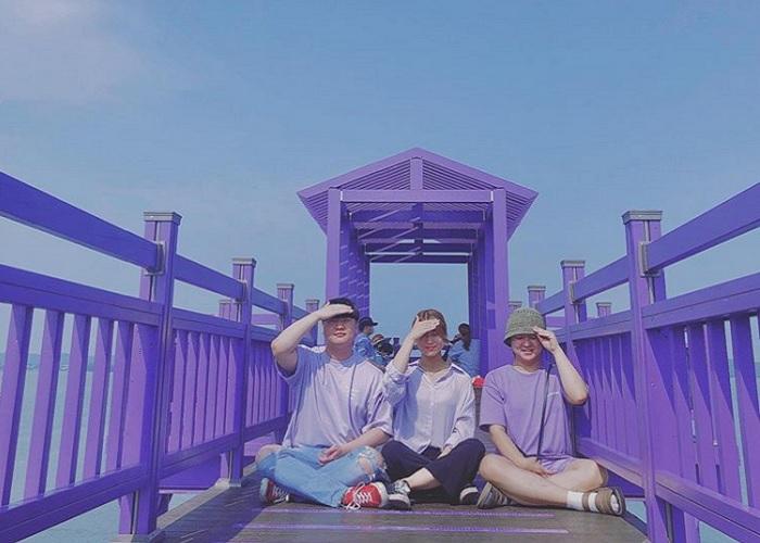 Check-in đảo màu tím ở Hàn Quốc - thiên đường mộng mơ đầy ấn tượng