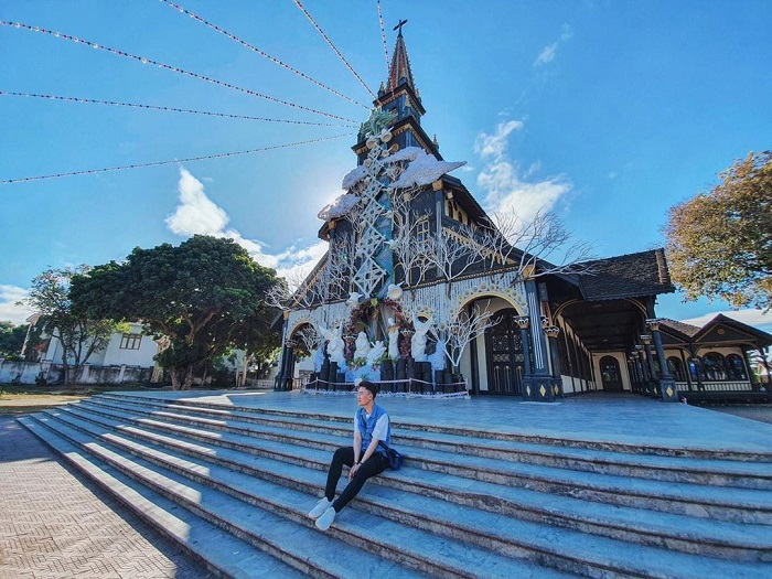 Kon Tum Wooden Church is the only Basilica-style wooden architectural masterpiece in the world