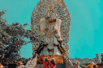 Đến Tịnh Xá Ngọc Hòa Quy Nhơn ngắm tượng Phật đôi cao nhất Việt Nam