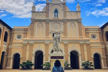 Nhà thờ Làng Sông Bình Định - bức tranh yên ả giữa phố thị xô bồ