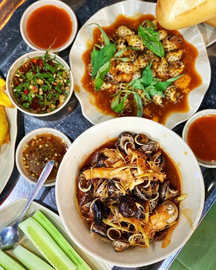 Ốc 9X - quán ốc ngon ở Nha Trang
