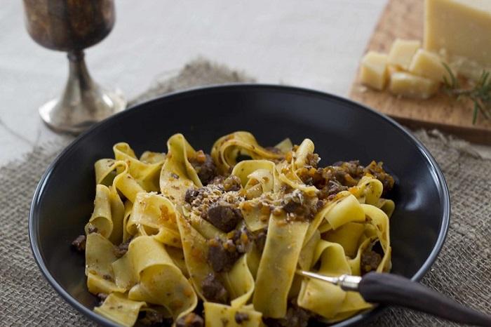 Pappardelle al Cinghiale - Ẩm thực Florence