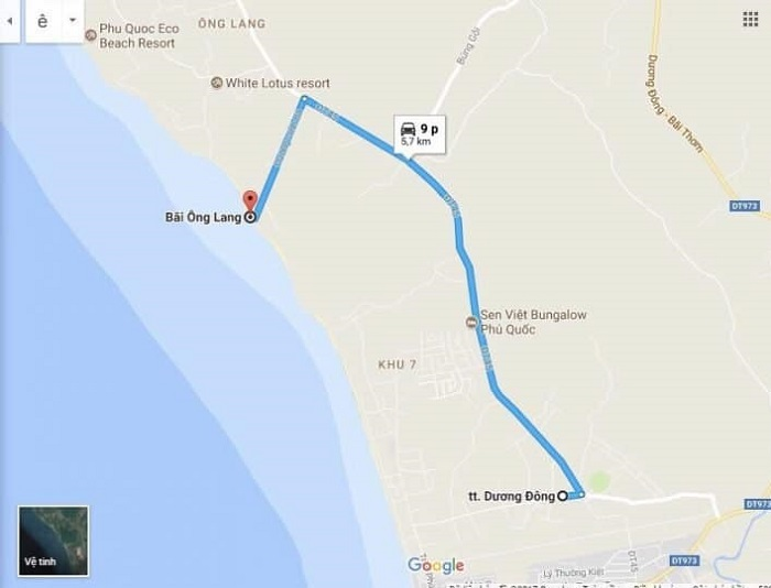 Ong Lang Beach Phu Quoc - how to get there