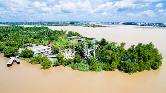 Về cồn Phú Đa - nhìn từ trên cao