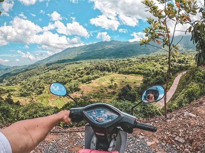 xe máy - phương tiện đến thung lũng Kho Mường