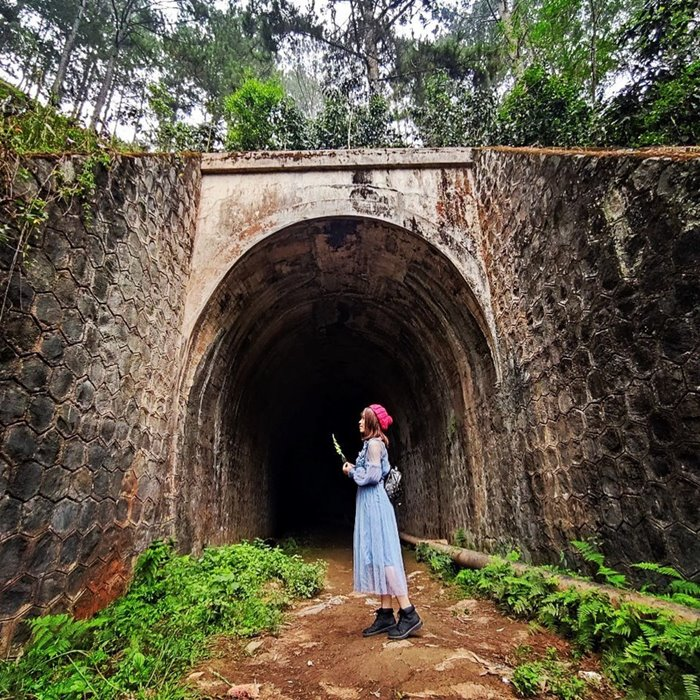 Train tunnel - abandoned place in Dalat