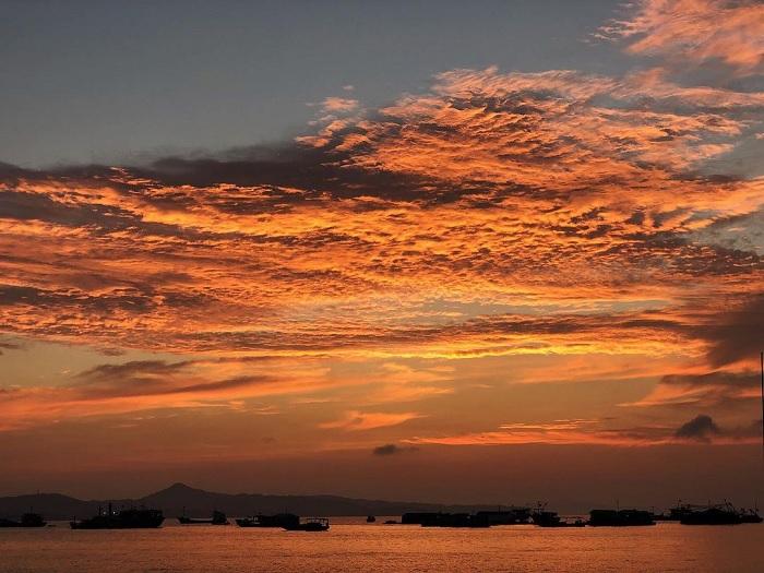 hoàng hôn - khoảnh khắc đẹp trên Đảo Thanh Lân