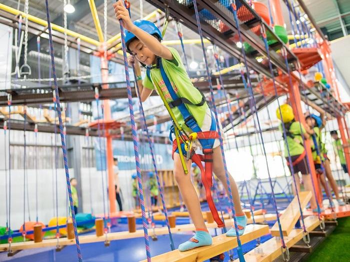 khu vui chơi Quận 2 Sài Gòn - Công viên bạt nhún Jump Arena vui chơi