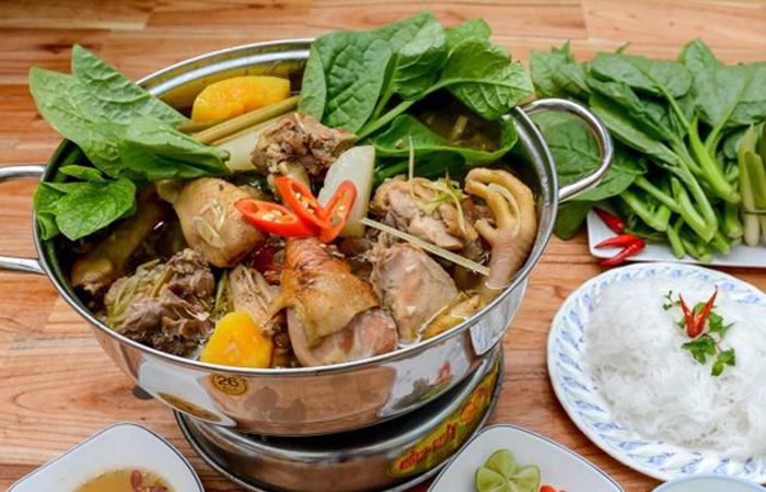 Bật mí top 10 quán ăn ngon Vĩnh Long - Một phần lẩu gà nòi