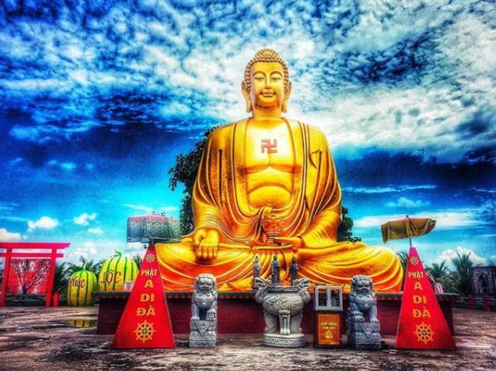 Vãn cảnh chùa Phật Học 2 - Ngôi chùa uy thiêng