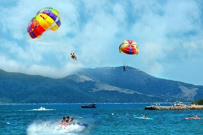 Skydiving at Hon Mun Island Nha Trang