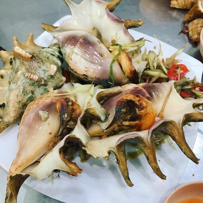 Những quán hải sản ngon rẻ ở Côn Đảo- quán ốc đêm Bình Nguyên thực đơn