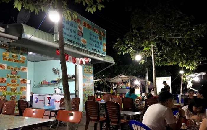 Những quán hải sản ngon rẻ ở Côn Đảo- quán ốc đêm Bình Nguyên
