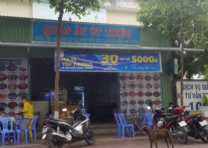 Những quán hải sản ngon rẻ ở Côn Đảo- quán Út Triệu
