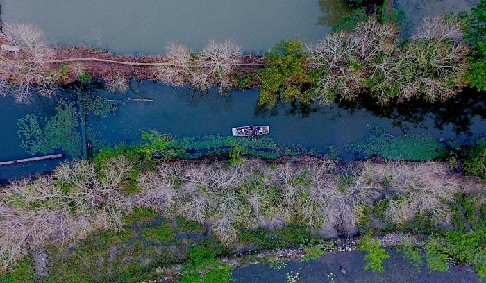 khang cảnh thơ mộng nơi suối Ấu Vĩnh An